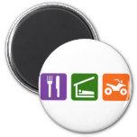 Eat Sleep ATV 2 Inch Round Magnet
