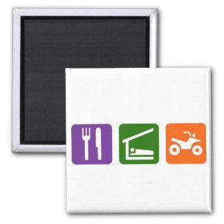 Eat Sleep ATV 2 Inch Square Magnet
