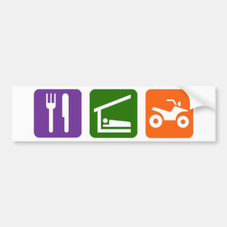 Eat Sleep ATV Bumper Sticker