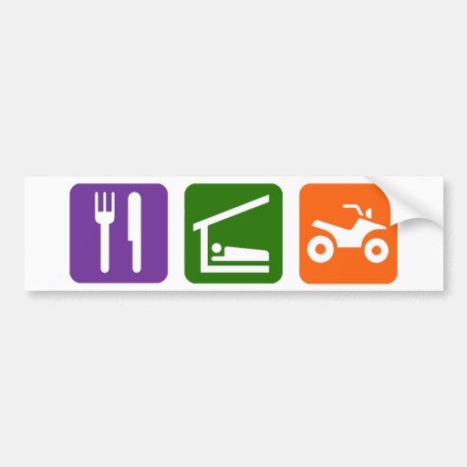 Eat Sleep ATV Car Bumper Sticker
