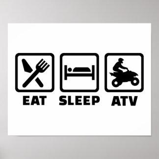 Eat sleep ATV Poster