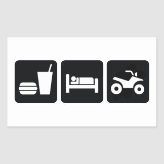 Eat Sleep ATV Rectangular Sticker