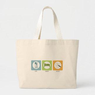 Eat Sleep Audit! Large Tote Bag