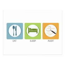 Eat Sleep Audit! Postcard