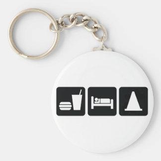 Eat Sleep AutoX Keychains