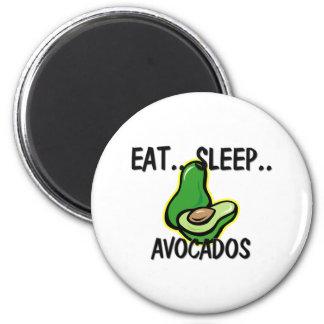 Eat Sleep AVOCADOS 2 Inch Round Magnet