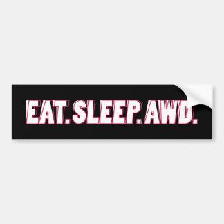 Eat. Sleep. AWD. Bumper Sticker