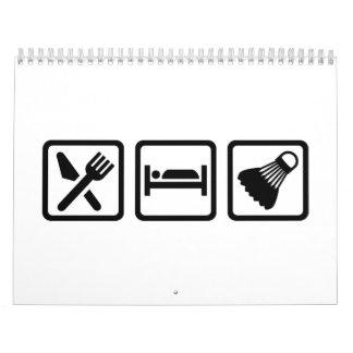 Eat Sleep Badminton Calendar