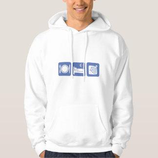 eat sleep badminton hoodie