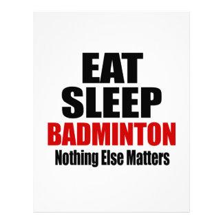 EAT SLEEP BADMINTON LETTERHEAD