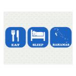 Eat Sleep Bahamas Post Card