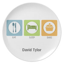 Eat Sleep Bake! Dinner Plate
