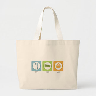 Eat Sleep Bake! Large Tote Bag