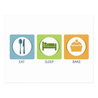 Eat Sleep Bake! Postcard