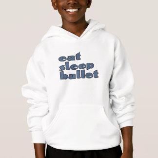 eat sleep ballet hoodie