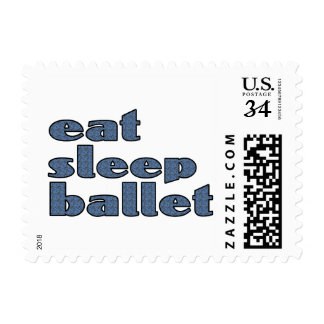 eat sleep ballet postage
