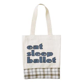 eat sleep ballet zazzle HEART tote bag