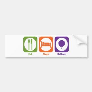 Eat Sleep Balloon Bumper Sticker