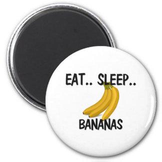 Eat Sleep BANANAS 2 Inch Round Magnet