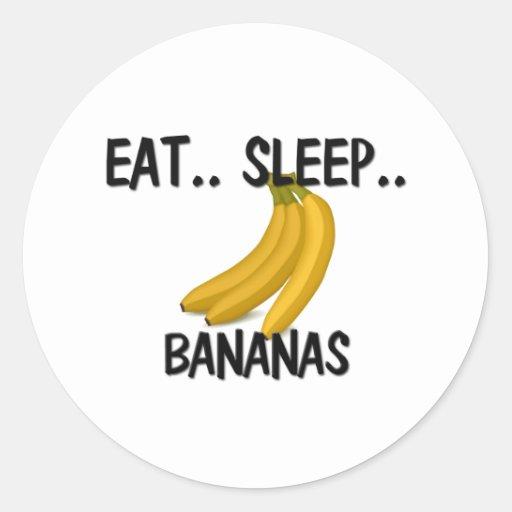 Eat Sleep BANANAS Classic Round Sticker