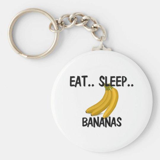 Eat Sleep BANANAS Keychain
