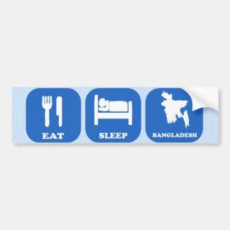 Eat Sleep Bangladesh Car Bumper Sticker