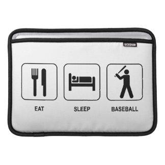 Eat Sleep Baseball 11 MacBook Air Sleeve