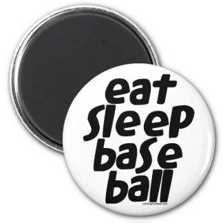 Eat Sleep Baseball 2 2 Inch Round Magnet