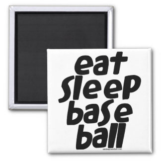 Eat Sleep Baseball 2 2 Inch Square Magnet