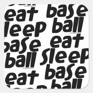 Eat Sleep Baseball 2 Square Sticker