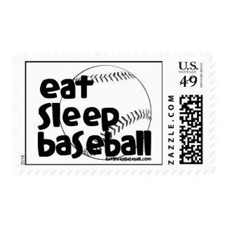 Eat Sleep Baseball 3 Postage Stamp