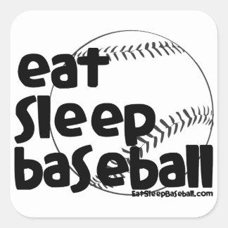 Eat Sleep Baseball 3 Square Sticker
