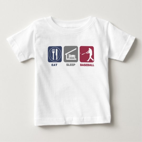 Eat Sleep Baseball Baby T-Shirt