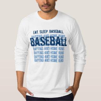 Eat. Sleep.  BASEBALL Batting and Home Runs G203 T-Shirt