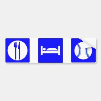 Eat, Sleep, Baseball Bumper Sticker