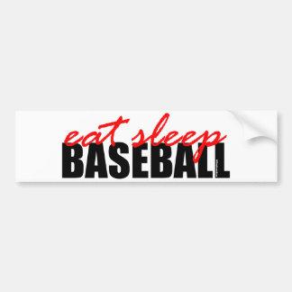 Eat Sleep Baseball Bumper Sticker