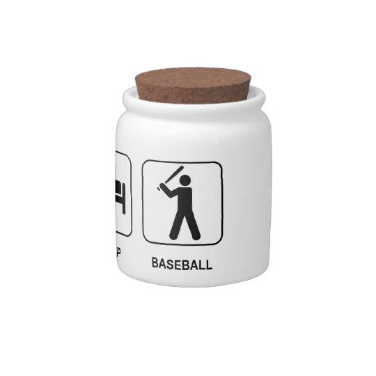 Eat Sleep Baseball Candy Jar