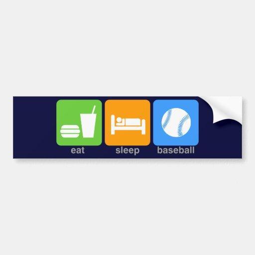 Eat Sleep Baseball Car Bumper Sticker
