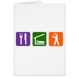 Eat Sleep Baseball Card