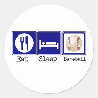 Eat, Sleep, Baseball Classic Round Sticker