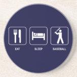 Eat Sleep Baseball Coaster