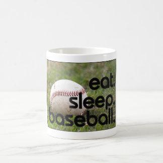 eat. sleep. baseball. coffee mug