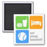 Eat Sleep Baseball Fridge Magnets