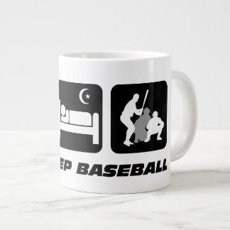 eat sleep baseball giant coffee mug