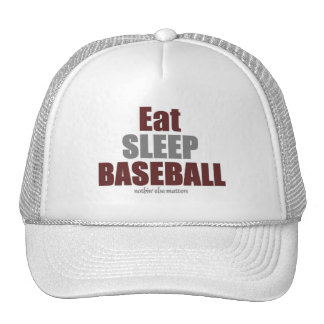 Eat sleep baseball trucker hat