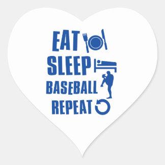 Eat sleep Baseball Heart Sticker