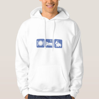 eat sleep baseball hooded pullover