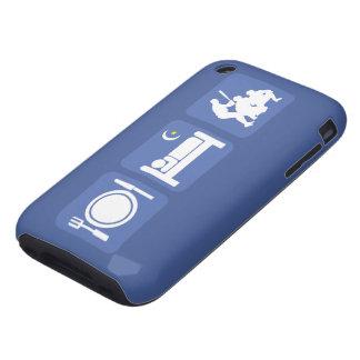 eat sleep baseball iPhone 3 tough case