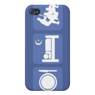 eat sleep baseball iPhone 4/4S cases