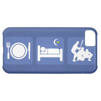 eat sleep baseball iPhone 5C cases